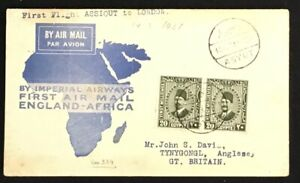 EGYPT 1931-3-14 -FFC IMPERIAL AIRWAYS--( SIMON ARZT) -ASSIOUT - LONDON --F/VF