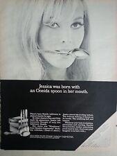 1967 Oneida Silverware Winter Song Lasting Rose Cantana Paul Revere Ad