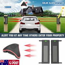 Driveway Transmission Alarm Motion Sensor System Wireless Solar Outdoor Security
