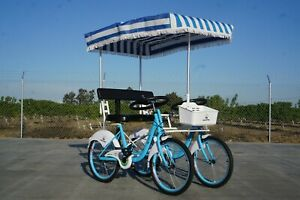2 Seater Surrey Bicycle Tandem (Assorted Colors!) for Spring-Summer-Autumn