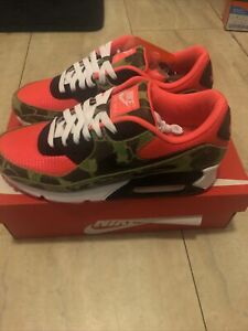 Nike Air Max 90 Reverse Duck Camo Mens Size 8.5 New W Box CW6024-600