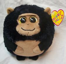 "Ty Beanie Ballz Tank The Ape In Ball Shape 4"" Plush Stuffed Animal Toy New"