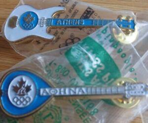 2 rare Canadian NOC Athens 2004 pins guitar /banjo