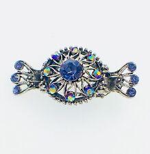 PROM Vintage Hair Claw Clip Jaw Hairpin use Swarovski Crystal Elegant Purple