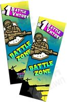 Battle Zone Bookmarks Book Reading School Party Bag Fillers Pack Sizes 6 - 48