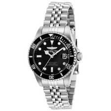 Invicta Women's Watch Pro Diver Quartz Black Dial Silver Tone Bracelet 29186