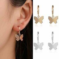 Fashion Butterfly Earrings Women Boho Gold Silver Dangle Drop Earring Cute Women
