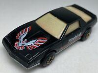 RARE Matchbox Superfast No 51 BLACK Pontiac Firebird SE GLOW Windows - Near Mint