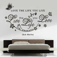 Love the life you live Quote Wall Sticker Decal Home Room Decoration