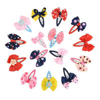 15pcs Kids Baby Girls Bowknot Hair Clip Hairpin Barrettes Hair Snaps Accessories