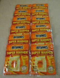 "12 Packs Hot Hands ""Super Warmer"" 18 Hrs of Heat *Larger Size Exp. 01/24"