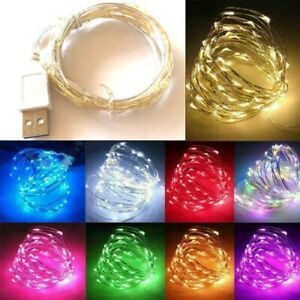 USB LED Micro Copper Wire String Fairy Lights Xmas Party christmas Light Decor