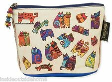 Laurel Burch Karlys Cat Organizer Bag Pouch Makeup Jewelry Meds Personal New
