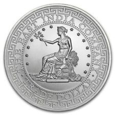US TRADE DOLLAR RESTRIKE - 2018 1 oz Pure Silver Coin - St. Helena - East India
