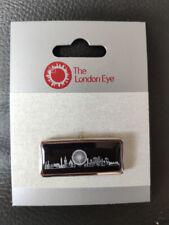 THE LONDON EYE Pin Badge Merlin BRAND NEW - BLACK LONDON SKYLINE
