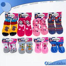 Calze antiscivolo scarpetta BAMBINA pantofole  con suola in gomma  pvc BSCAL001