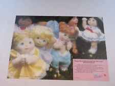 Mattel My Child Doll vintage magazine advertising - 2 page ad - 1986