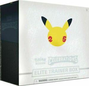Pokemon Celebrations 25th Anniversary Elite Trainer Box Brand New - PREORDER