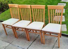 4 John Lewis Beech Dining Chairs
