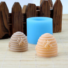 3D Screw Bee Hive Shape Cake Mould Handmade Candle Soap Silicone Resin Mold Tool
