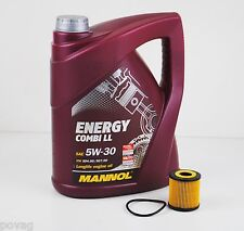 5 L MANNOL Energy LL 5W-30 Longlife mit Ölfilter für Smart