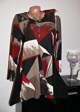 ♥ Empire Tunika Kleid  Herbst  Farben schwarz rot  40  42 44 46  gr  NEU ♥