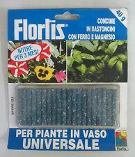 Flortis concime in bastoncini con ferro magnesio 40g x piante in vaso universale