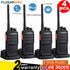 4X 12KM 16Ch 2 Way Walkie Talkie Compact Set PMR 446MHZ Radio Kit Rechargeable