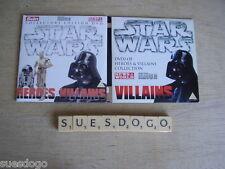 STAR WARS HEROES & VILLAINS - 2 PROMO DVDS - COLLEXCTORS EDITION