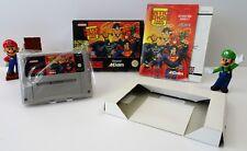 Super Nintendo SNES juego-Justice League Task Force + instrucciones + embalaje original-cib
