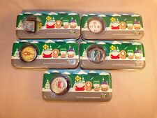 Set of 5 Different Vintage South Park Watch from 1998 With Original Tins