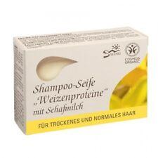 Saling Shampoo-Seife Weizenproteine 125g Schafmilch Haarseife bio, Naturkosmetik