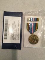 Armed Forces Expeditionary Medal (AFEM) FULL SIZE set w/ ribbon MADE IN USA NEW!