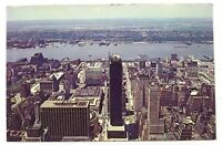 New York City NY Birds Eye View From Empire State Building Vintage Postcard