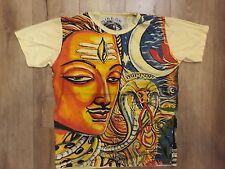 Men T shirt Shiva hindu cotton animal om GANESHA INDIA HIPPIE Peace M Mirror New