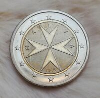 2 Euro Münze 2015 Malta Kursmünze                      (Fehlprägung)