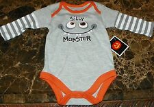 NEW Silly Monster HALLOWEEN ~ Infant CREEPER BODYSUIT ~ Sz NB 3M Costume LNG SLV