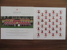 Autogrammkarte *MANNSCHAFTSBILD* FC Arsenal London 14/15 2014/2015 Podolski...