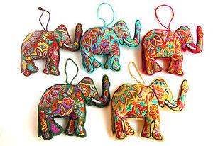 Embroidered Elephant, Fair Trade, Home Decor, Assorted Colours, Gift, Elephants