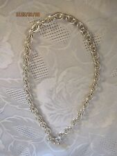 "925 Sterling Silver 16"" Chunky Link Toggle Clasp Necklace  #N221"