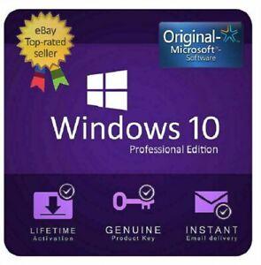 WIN 10 Pro Professional | Lizenz Key | 32/64 Bit PRO-Vollversion Lizenz