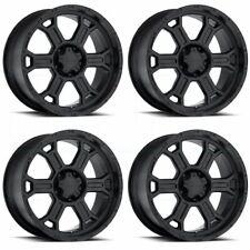 17x9 Vision 372 Raptor 6x5.5/6x139.7 25 Matte Black Wheels Rims Set(4)