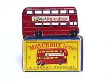 MATCHBOX Lesney No.5c AEC AEC ROUTEMASTER Bus Londra 'd' Box (RARO peardrax decals)