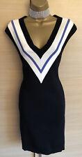 Exquisite Karen Millen New Bandage Knit Stretch  Plunge Dress Uk8 Stunning