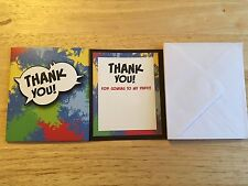 16 Thank you for coming to my party invites with envelopes **FREE POSTAGE**