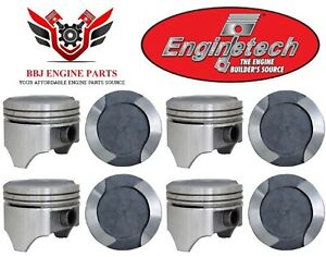 Ford Mercury 400 Modified V8 Enginetech Dish Top Pistons (8) 1971 - 1982