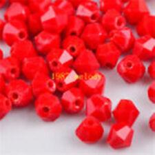 100pcs swarovski Crystal 4mm 5301# Bicone Beads  chinese red