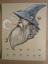 "Dapper Wizard Zach Landrum limited edition 11""x14"" signed/numbered screen print"