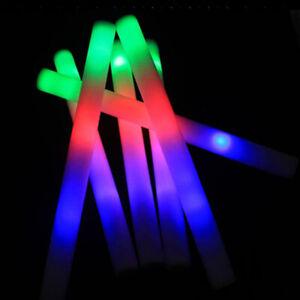 50 PCS Light Up Foam Sticks LED Wands Rally Rave Batons DJ Flashing Glow Stick