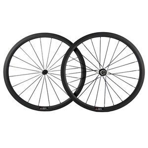 Light Weight Carbon Wheels 38mm Tubular Road Bike Carbon Wheelset 700C Race